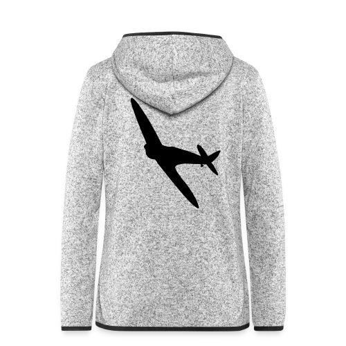 Spitfire Silhouette - Women's Hooded Fleece Jacket