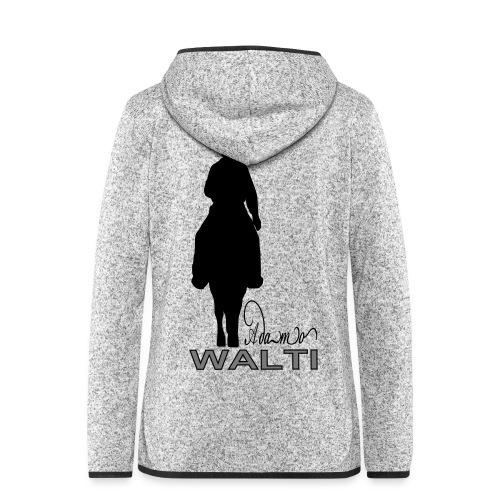 adamo sill schrift klein - Veste à capuche polaire pour femmes