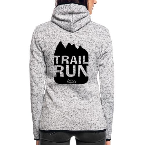 Trail Run - Frauen Kapuzen-Fleecejacke