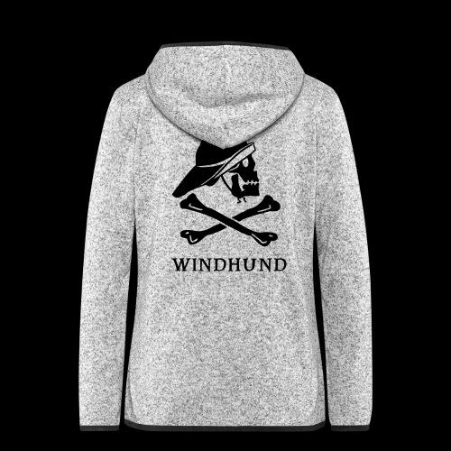 ~ Windhund ~ - Frauen Kapuzen-Fleecejacke