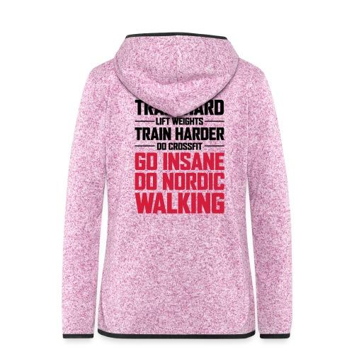 Nordic Walking - Go Insane - Naisten hupullinen fleecetakki
