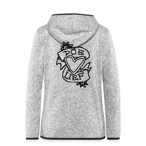doe lief hart tattoo - Vrouwen hoodie fleecejack