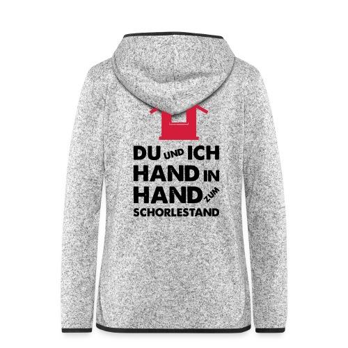 Hand in Hand zum Schorlestand / Gruppenshirt - Frauen Kapuzen-Fleecejacke