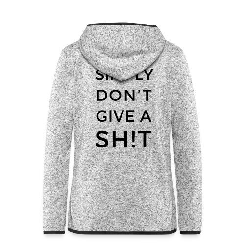 SIMPLY DON'T GIVE A SH!T - Giacca di pile con cappuccio da donna