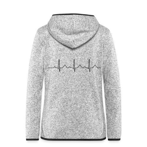 Healthy heart - Frauen Kapuzen-Fleecejacke