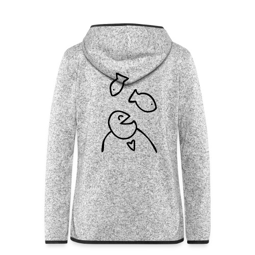 visman3 - Vrouwen hoodie fleecejack
