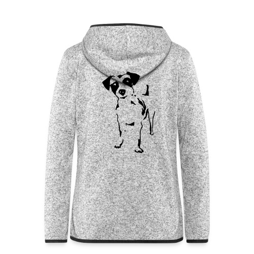 Jack Russell Terrier - Frauen Kapuzen-Fleecejacke