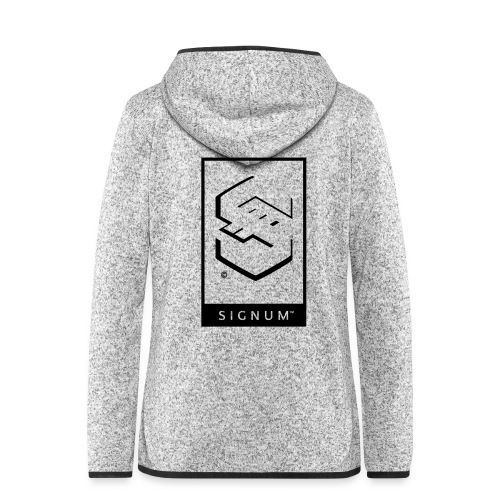 signumGamerLabelBW - Women's Hooded Fleece Jacket
