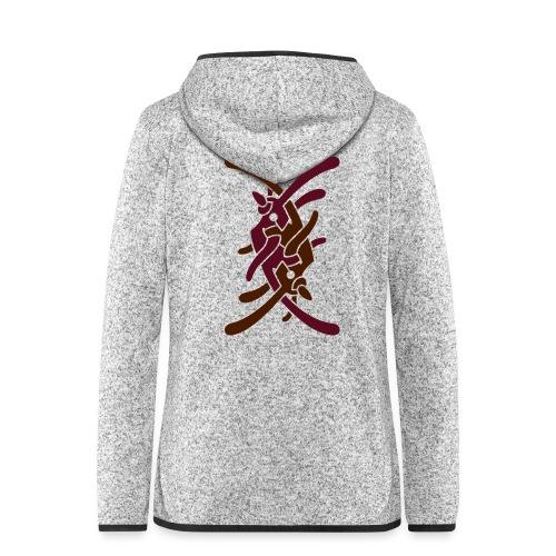 Stort logo på bryst - Dame hætte-fleecejakke