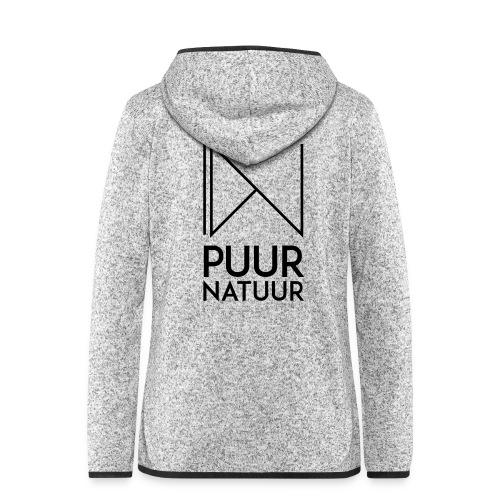 PUUR NATUUR FASHION BRAND - Vrouwen hoodie fleecejack