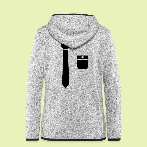 Tie and pocket ( smoking, tuxedo ) - Vrouwen hoodie fleecejack