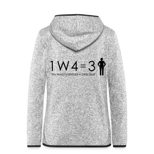 1W4 3L - Frauen Kapuzen-Fleecejacke