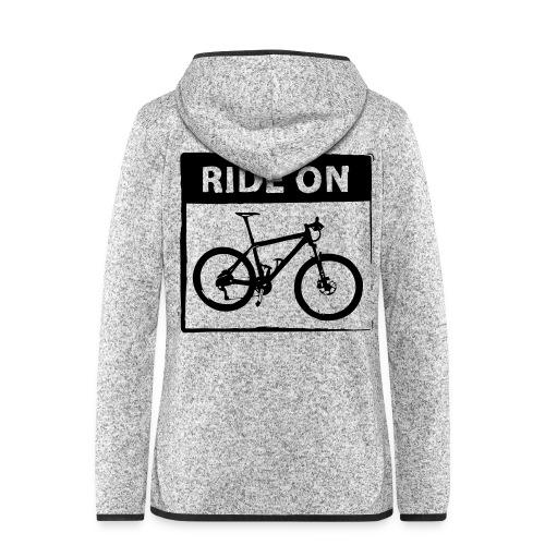 Ride On MTB 1 Color - Frauen Kapuzen-Fleecejacke