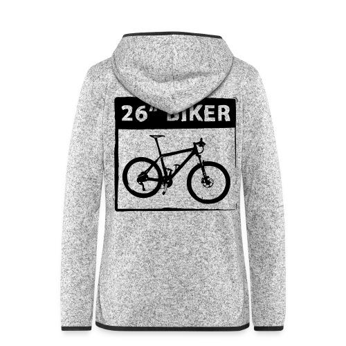 26 Biker - 1 Color - Frauen Kapuzen-Fleecejacke