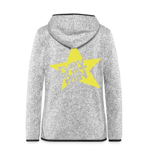 daily pain star - Bluza polarowa damska z kapturem