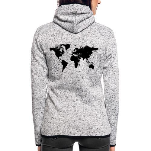 World Map - Frauen Kapuzen-Fleecejacke