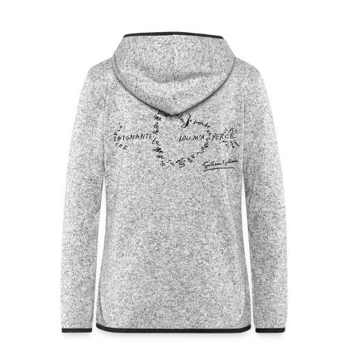 calligramme_fleche_saignante - Veste à capuche polaire pour femmes