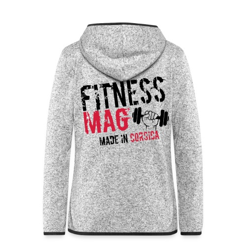 Fitness Mag made in corsica 100% Polyester - Veste à capuche polaire pour femmes