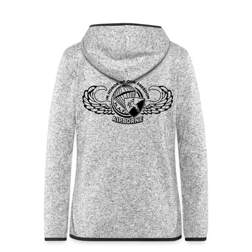 HAF tshirt back2015 - Women's Hooded Fleece Jacket