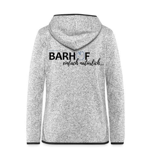 Barhuf_01_PFAD - Frauen Kapuzen-Fleecejacke