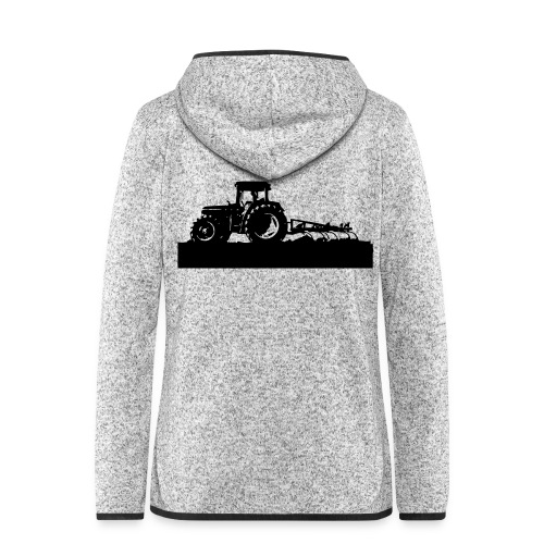 Tractor with cultivator - Women's Hooded Fleece Jacket