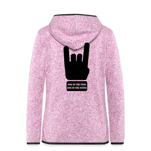 rock/metal one in the pink, one in the stink - Vrouwen hoodie fleecejack