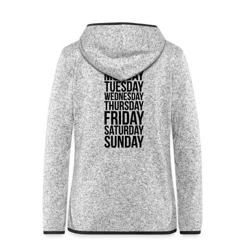 Days of the Week - Women's Hooded Fleece Jacket