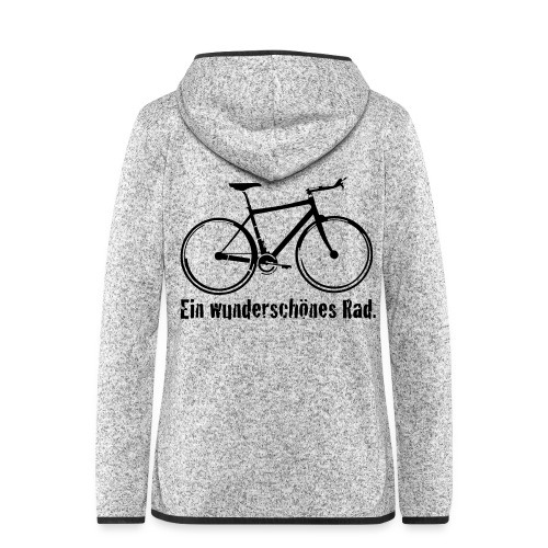 Mein Rad - Frauen Kapuzen-Fleecejacke