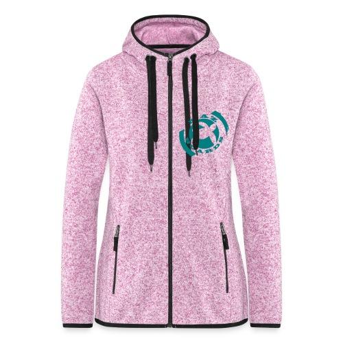 logonoir675x700 bleu 1 - Veste à capuche polaire pour femmes