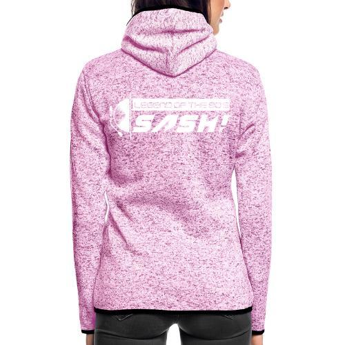 DJ SASH! Turntable Logo - Women's Hooded Fleece Jacket