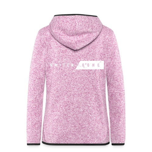 Switchbone_white - Vrouwen hoodie fleecejack