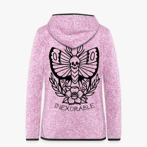 Traditional Tattoo Moth - Women's Hooded Fleece Jacket