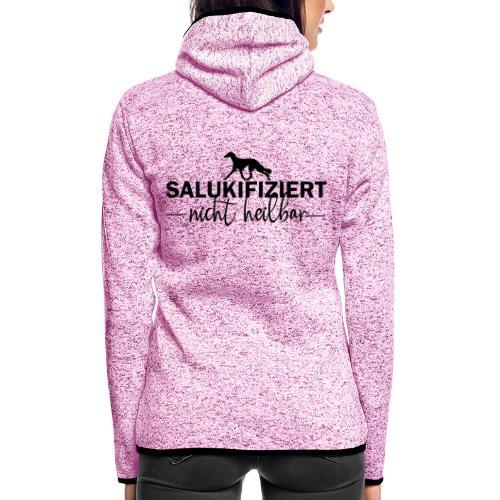 Saluki - nicht heilbar - Frauen Kapuzen-Fleecejacke