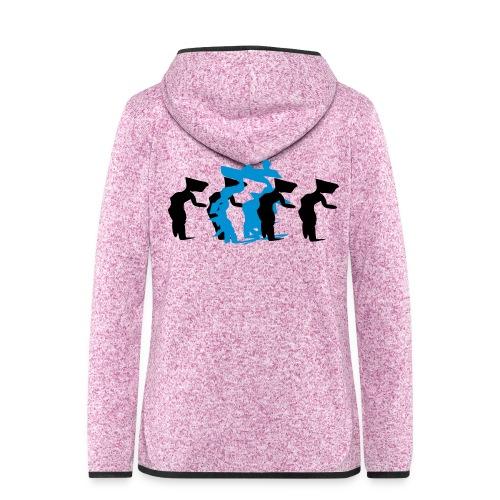 through - Women's Hooded Fleece Jacket