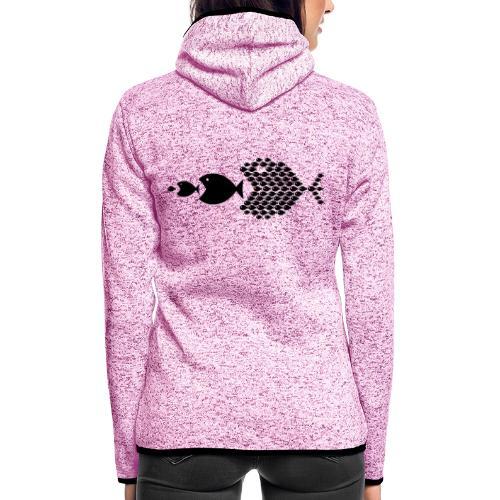 poissons mer vacances - Veste à capuche polaire pour femmes