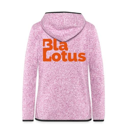 Blå Lotus_logo - Fleeceluvjacka dam