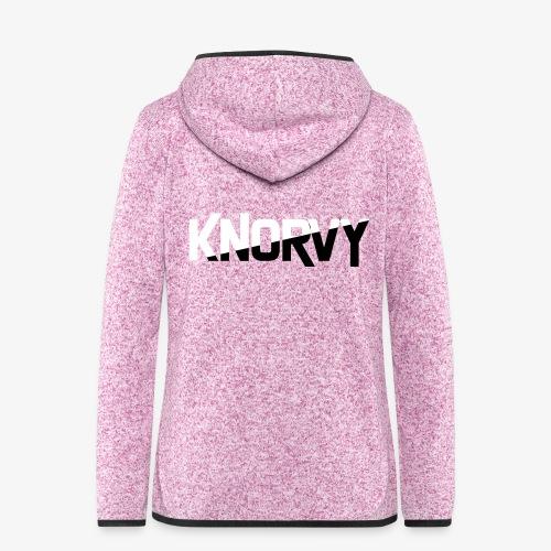 KNORVY - Vrouwen hoodie fleecejack