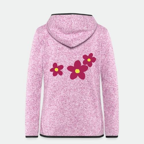 Three Flowers - Women's Hooded Fleece Jacket