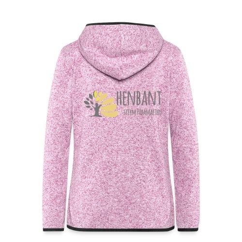henbant logo - Women's Hooded Fleece Jacket