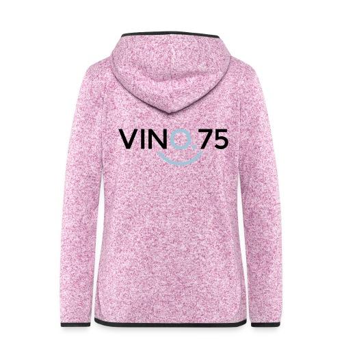 VINO75 - Giacca di pile con cappuccio da donna