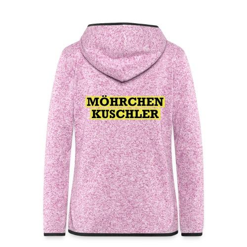 Möhrchenkuschler - Frauen Kapuzen-Fleecejacke