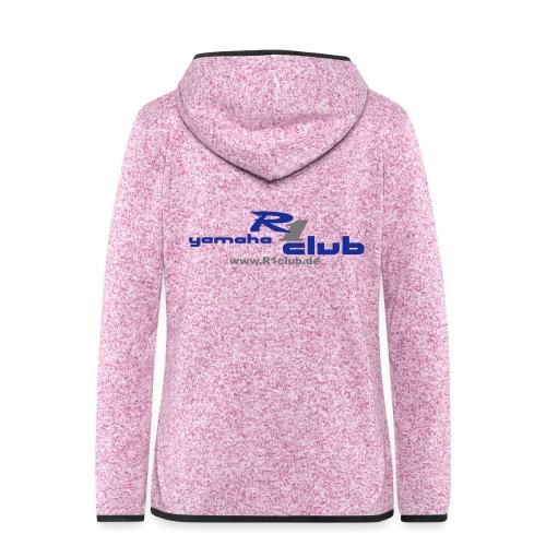 R1club Logo blau - Frauen Kapuzen-Fleecejacke