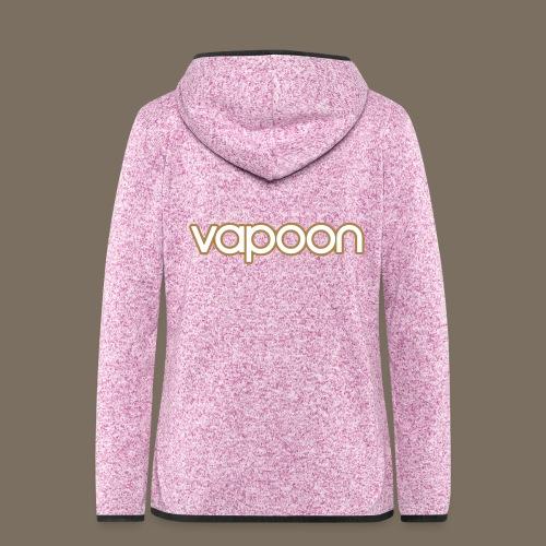 Vapoon Logo simpel 2 Farb - Frauen Kapuzen-Fleecejacke