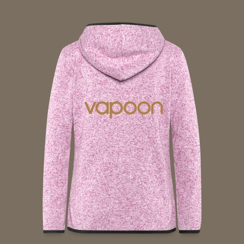 Vapoon Logo simpel 01 - Frauen Kapuzen-Fleecejacke