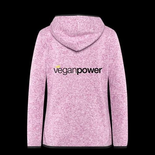 veganpower Lifestyle - Frauen Kapuzen-Fleecejacke