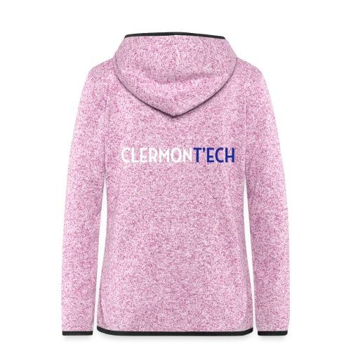 Clermont ech two colors - Veste à capuche polaire pour femmes
