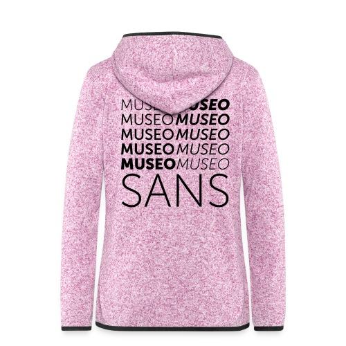 museo sans - Women's Hooded Fleece Jacket