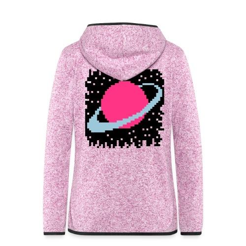 PixelArt Saturn - Women's Hooded Fleece Jacket