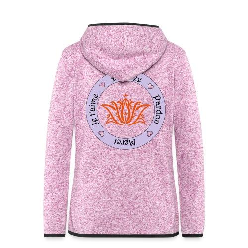 Tee shirt Bio Femme Ho oponopono - Women's Hooded Fleece Jacket