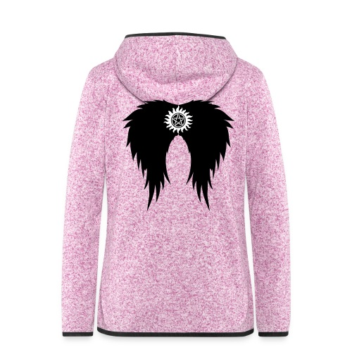 Supernatural wings (vector) Hoodies & Sweatshirts - Women's Hooded Fleece Jacket